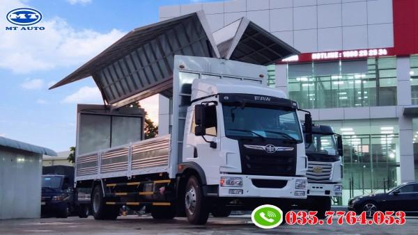 xe tải 8 tấn thùng kín cánh dơi chở bao bì giấy , pallet , bia , giá 450 triệu
