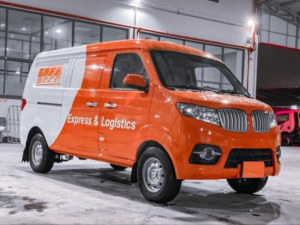 xe tải dongben SRM van 2 chỗ |xe chở thư báo | giảm giá cuối năm , tặng bộ camera trước sau