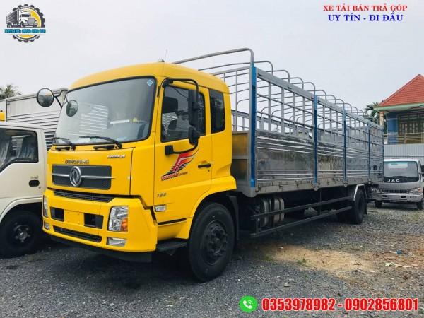 Xe tải dongfeng 9 tấn thùng dài trên 9 mét, giá xe tải thùng dài