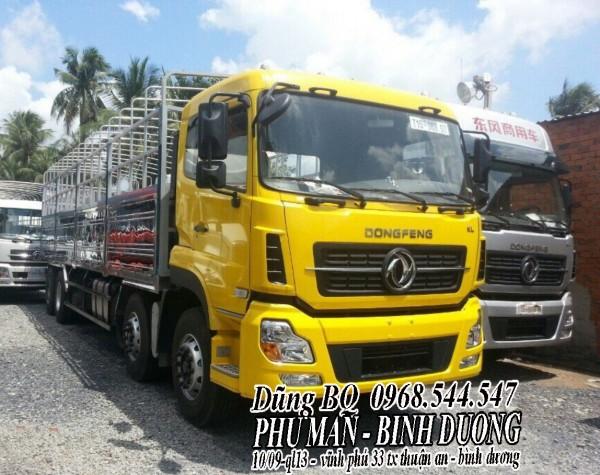 Xe tải dongfeng hoàng huy 4 chân tải 17T99