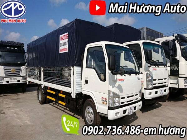 Xe tải Isuzu 1.9 tấn thùng 6m2|Hỗ trợ vay 80%