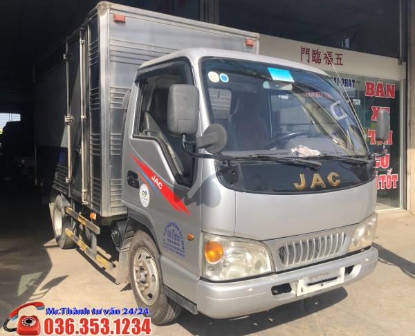 Xe tải JAC 2t45 Đời 2016 - Thùng kín 3m4. Hỗ trợ các bác về chạy tết