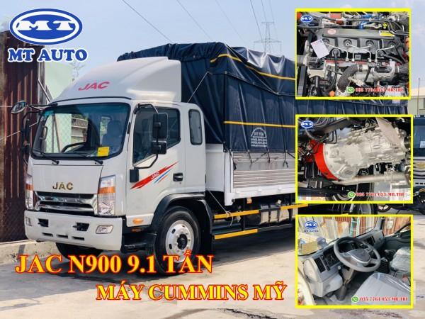 xe tải JAC N900 9 tấn thùng 7 mét máy cummins mỹ | hỗ trợ vay cao 80%