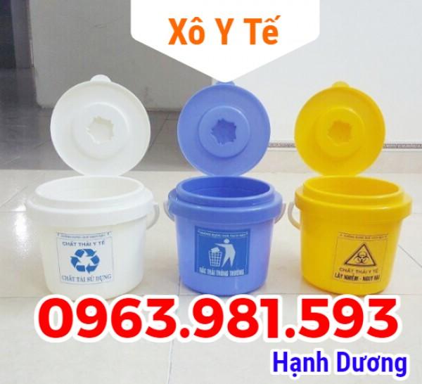 Xô y tế, xô đựng rác thải y tế 5L, 10L, 22L,50L