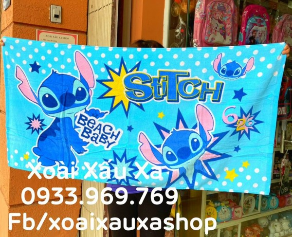 [Xoài Xấu Xa Shop] khăn tắm hoạt hình lilo & stitch disney xinh xắn hàng sưu tầm disney
