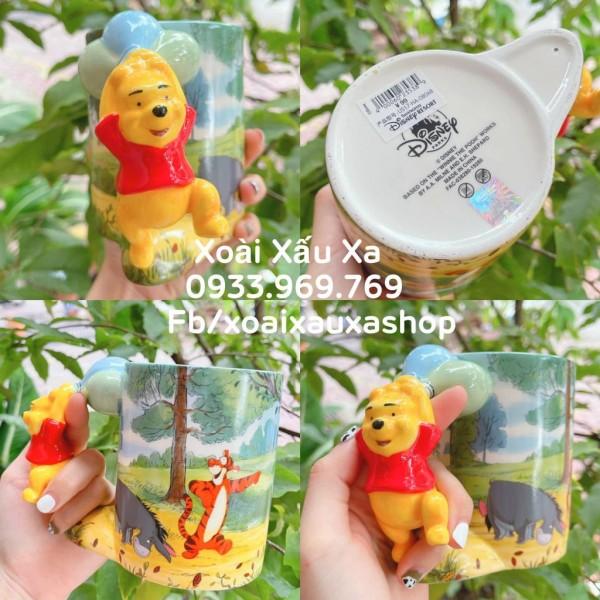 [Xoài Xấu Xa Shop] ly sứ 3D gấu winnie the pooh disney land hàng store hàng sưu tầm gấu pooh