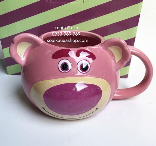 [Xoài Xấu Xa Shop] ly sứ disney gấu dâu lotso strawberry bear phim hoạt hình toy story 4 disney