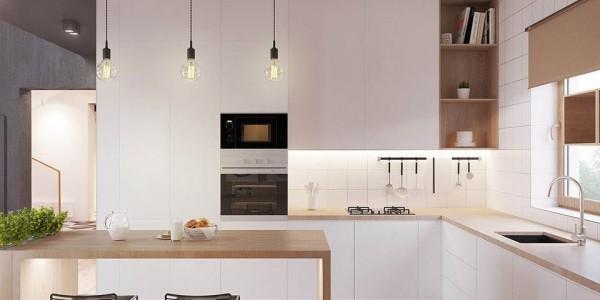 Ý tưởng cho căn bếp hiện đại với chiếc tủ lạnh mặt thép
