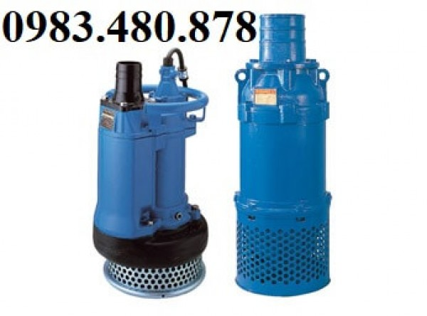 (Zalo/call) 0983.480.878 Máy bơm hút bùn , bơm thi công hố móng Tsurumi KRS 819 công suất 19KW