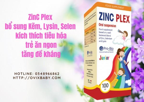 ZINC PLEX bổ sung kẽm kết hợp ITALILACTOR giúp trẻ ăn ngon hệ tiêu hóa khỏe